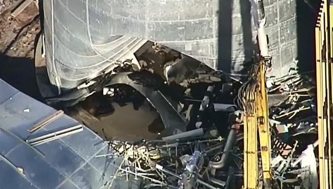 Water Tank Destruction : An aerial view captures the destruction at kawana after a