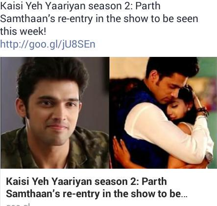 Parth samthaan re entry in show this week rt rt rt rt