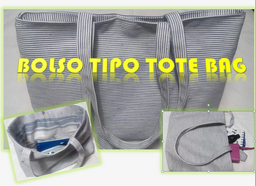 Bolso TIPO Tote Bag... Reutiliza!!