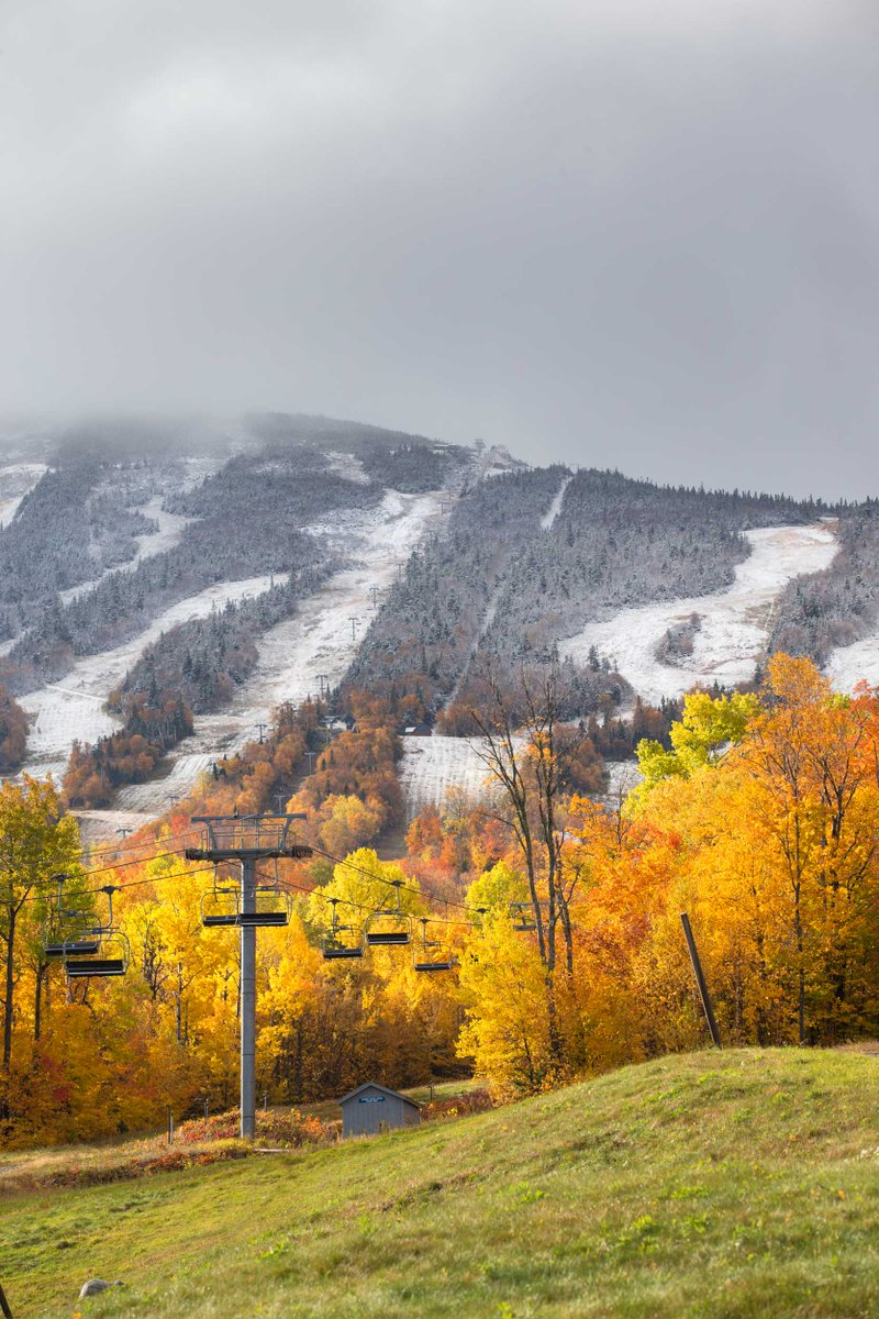 Snowliage. Doesn't get much prettier than this. #theloaf #winteriscoming #firstsnow #foliage #snowliage http://t.co/zjOHEw7Bfz