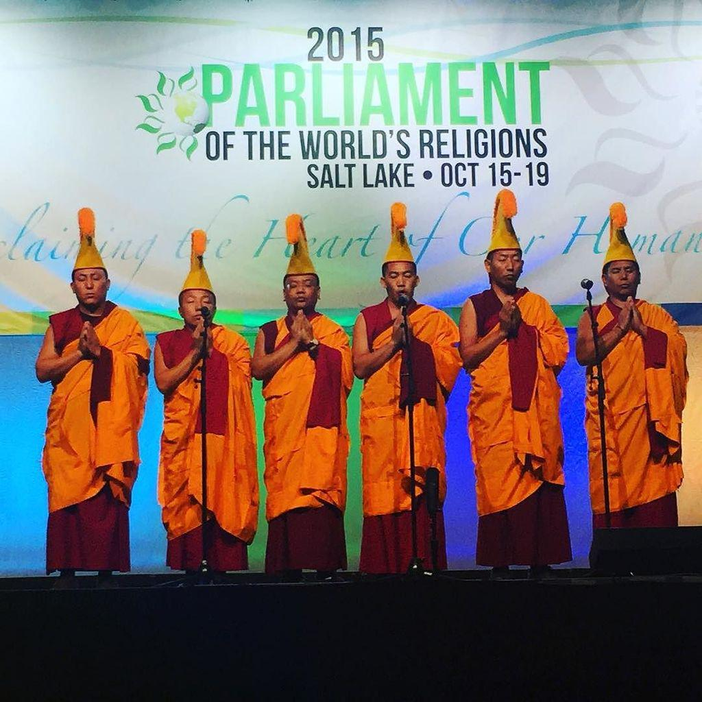 Gelug monks present at #parliament2015 plenary on income inequality @interfaithworld http://t.co/50p039oNdl