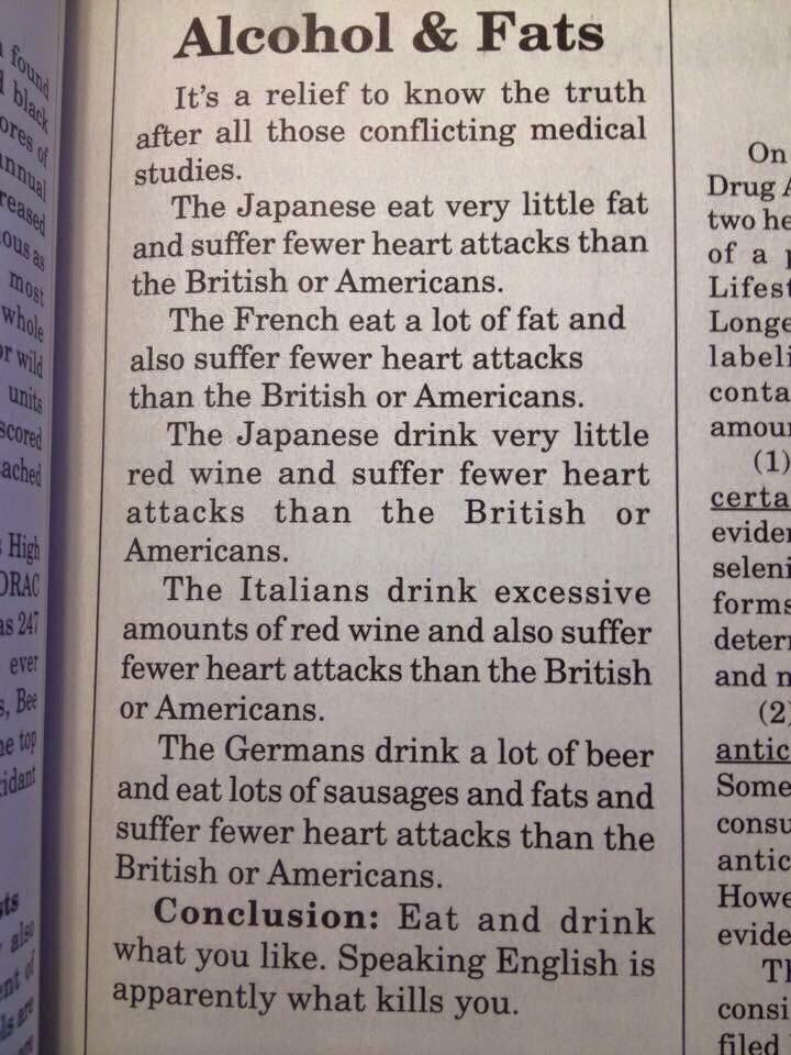 Alcohol, fats, and heart attacks (you'll love this new take on the correlation! thanks, @seosmarty) http://t.co/konZ9YAozo
