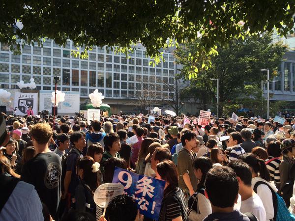 やることが姑息な朝鮮人だなw そして日の丸がないからやっぱりなりすまし在日w  SEALDs、また人混みの渋谷駅前でデモ開始!通行人を参加者にカウントする作戦か - 保守速報 http://t.co/GpARttsfIQ http://t.co/DqQxf1vYPW