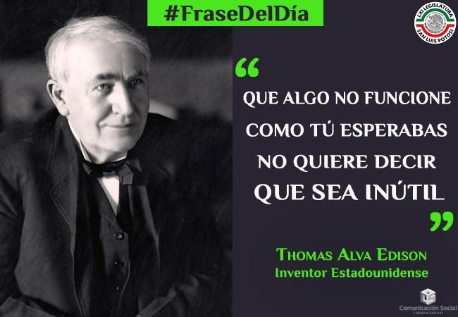 La #FraseDelDía Un 18 de octubre de 1931 muere Thomas #AlvaEdison patentó más de mil inventos http://t.co/tiqbRKBsqF