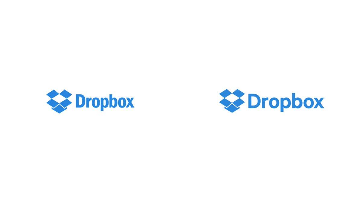 """Dropboxのロゴが変わった Franklin Gothic Condensedから丸みのあるヒューマニスト・サンセリフに変わって """"今っぽい"""" 雰囲気になった http://t.co/ggV7U1cehb"""