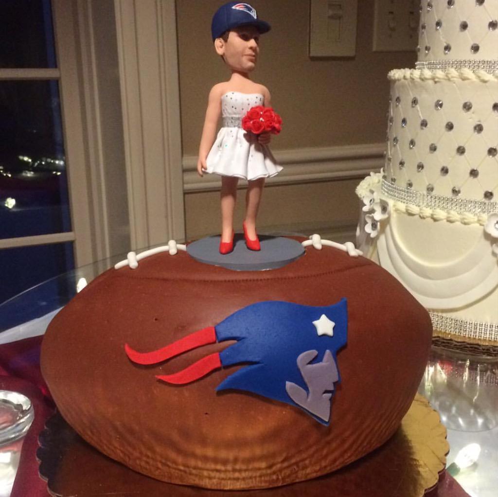 Grooms Cake At Bills Fans Wedding Last Night Featured Tom Brady In