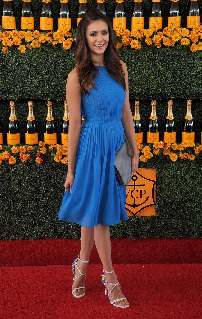 .@ninadobrev looked gorgeous in Badgley Mischka at yesterday's Sixth-Annual Annual Veuve Clicquot Polo Classic in LA http://t.co/vktwjMi44X