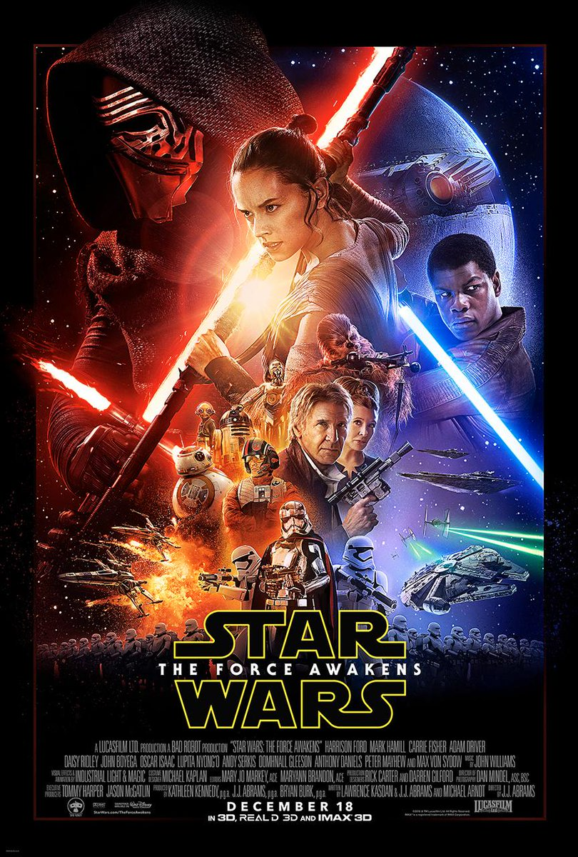 The new poster for #StarWarsTheForceAwakens released, new trailer to debut tomorrow during Monday Night Football: http://t.co/VYvrh68GsB