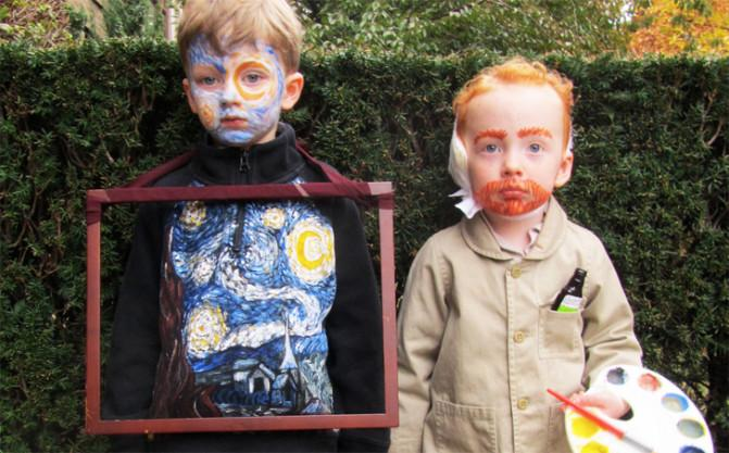 We can't stop smiling at these Starry Night & Van Gogh costumed kiddos! #halloween #art #costume http://t.co/SJtdmTa5ju