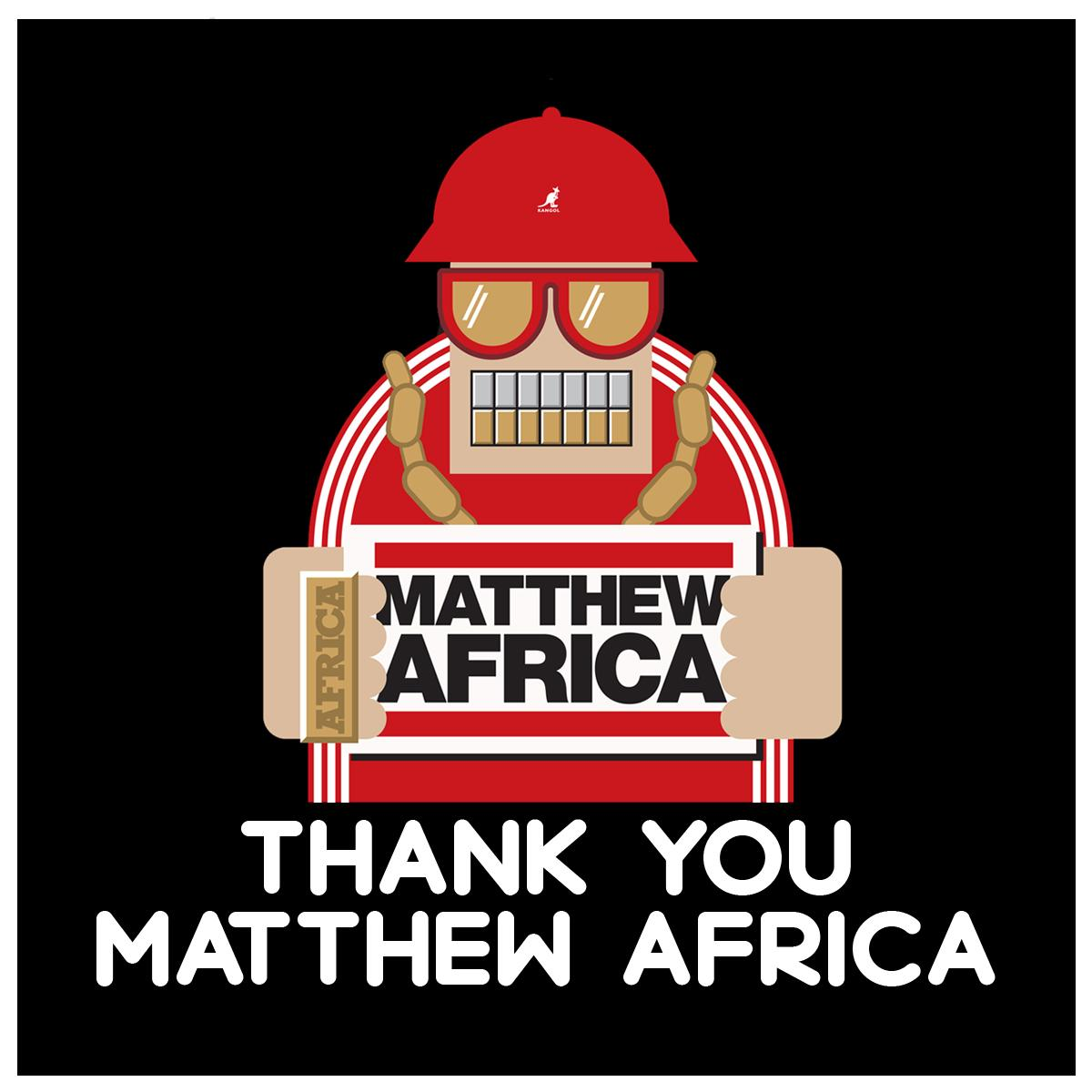 #ThankYouMatthewAfrica - A tribute series for his bday feat mixes from some of his closest friends and biggest fans http://t.co/H7rYHc9yiY