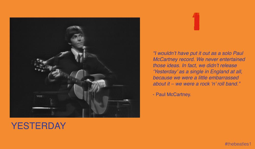 #thebeatles1 is the story of The Beatles - in video. 11: Yesterday... http://t.co/rp3eUvNHxd