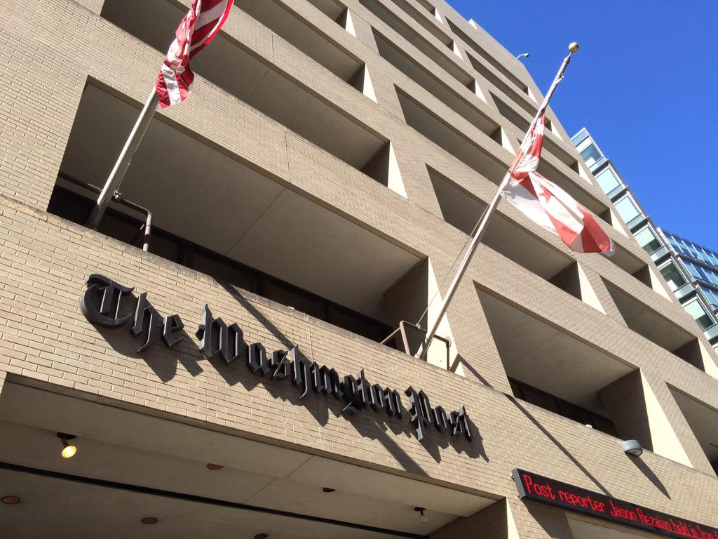Get to 1150 15th St. NW today if you want images of the iconic @washingtonpost sign. It's coming down tomorrow. http://t.co/LGHmYJ3919