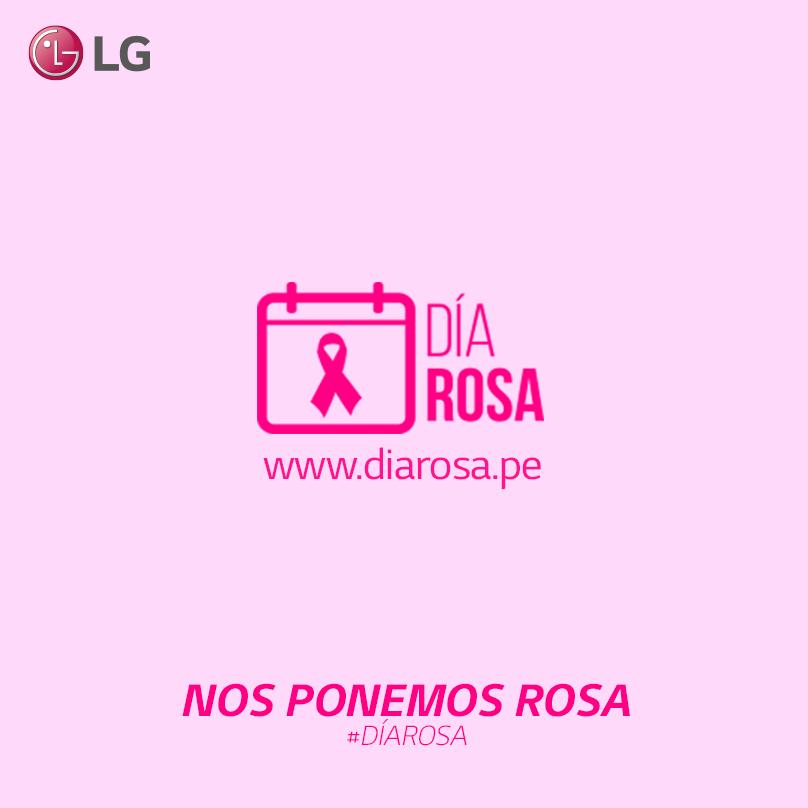 ¡LG Perú se suma a la lucha contra el cáncer de mama! El es turno para nuestros embajadores :) #DÍaRosa http://t.co/eMZZvuRcqk