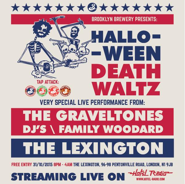 The @BrooklynBrewery Halloween Death Waltz with The Graveltones live! @HotelRadioLive streaming the whole night! https://t.co/FBQM5325tH