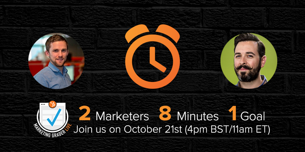 Less than 48 hours 'til Marketing #GraderLive w/ @randfish & @searchbrat. Are you signed up? http://t.co/yhnmWZrnzX http://t.co/TMr8AZ2ntc