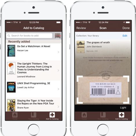 The @LibraryThing iPhone app has ARRIVED!   Blog: http://t.co/EGCBVyikU7 iTunes: https://t.co/6dMMnovmWJ http://t.co/KzqXfZClGz