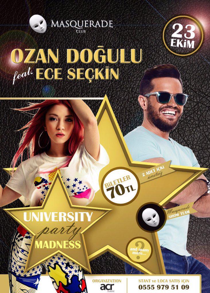 Ece Seçkin ile bu cuma İstanbul Masquerade'deyiz