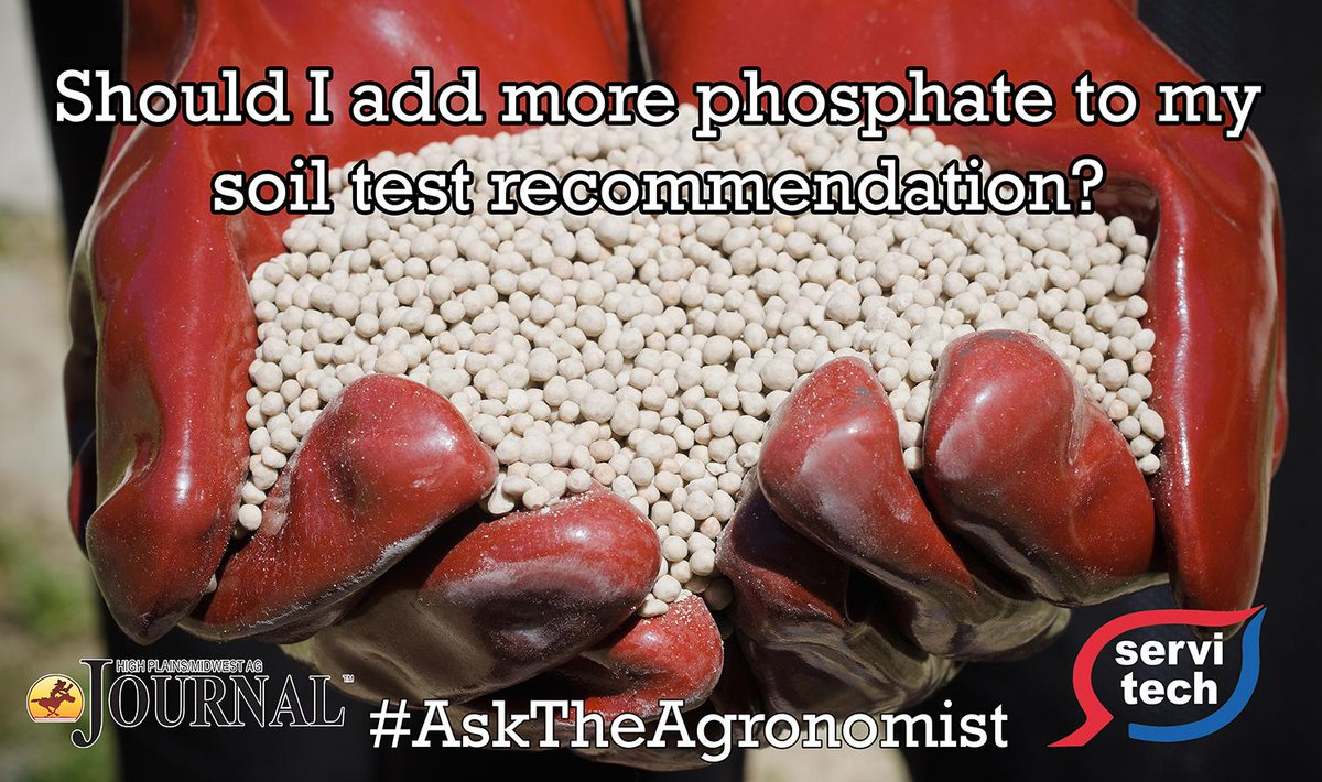 #AsktheAgronomist w/ @HighPlainsJrnl - Should I add more phos to my soil test rec? https://t.co/7t1RZpmo8P #agronomy https://t.co/QSNltS0GEv