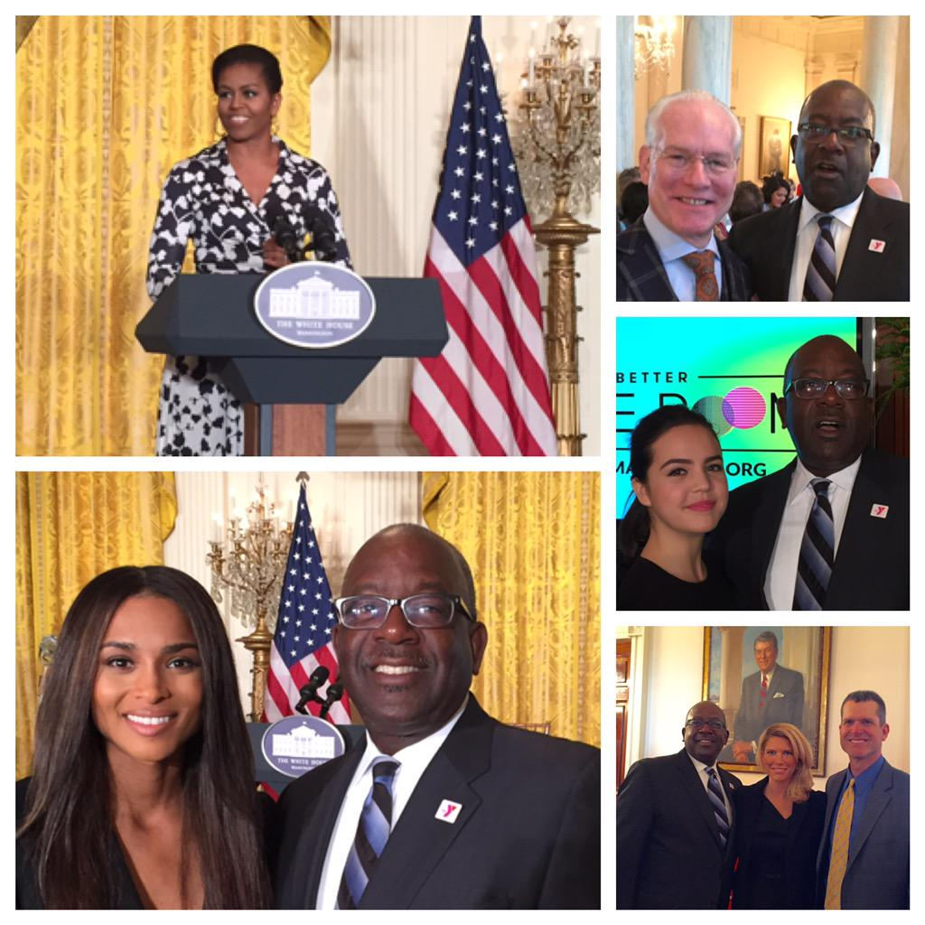 Inspired to #BetterMakeRoom @WhiteHouse w @FLOTUS @ciara @TimGunn @BaileeMadison @CoachJim4UM @ymca @KevinWashYMCA https://t.co/MaSJ5NlmNy