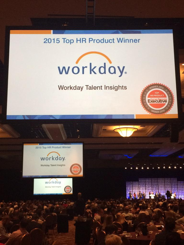 Honored that Workday Talent Insights was awarded @HRExecMag's Top HR Products of 2015. Congrats to all! #HRTechConf https://t.co/0UIOz1iqDM