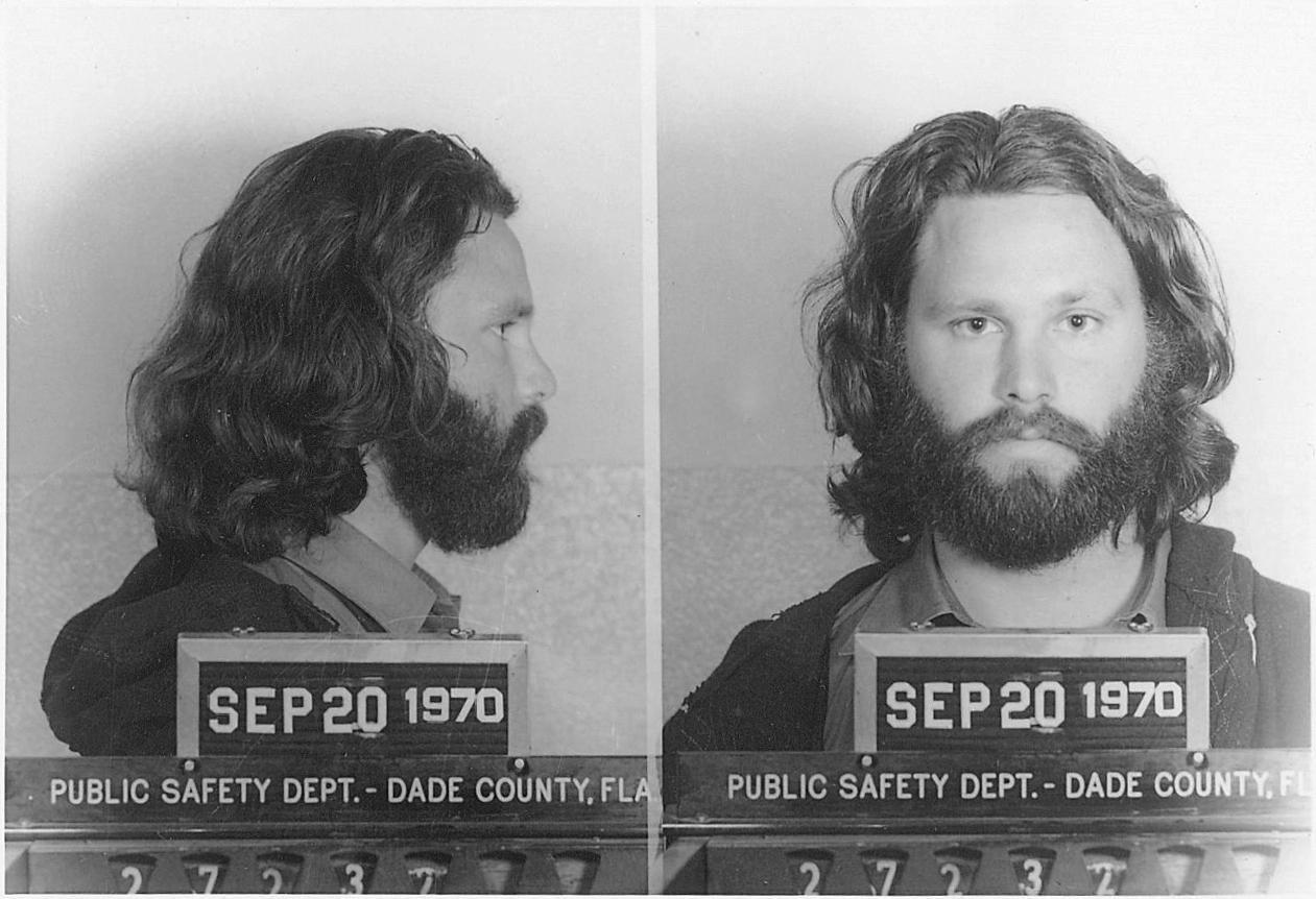 Mug shot of Jim Morrison, September 1970. https://t.co/SYBGWn0FPZ