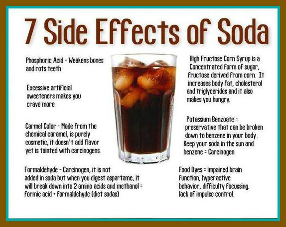 the detrimental effects of soda and Summer is just around the corner, and that means it's time for barbecues, swimming and coming home to drink a nice, cold soda though you may want to think twice about that last one.