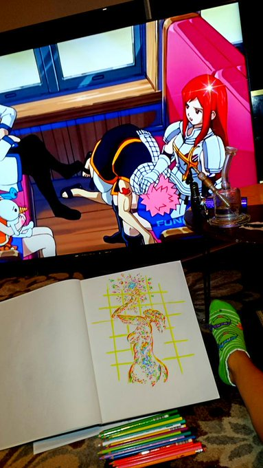 4:20 in the morning California Vibes be like #Doodles #Dabs #fairytail #anime https://t.co/Ivhd6saDZ