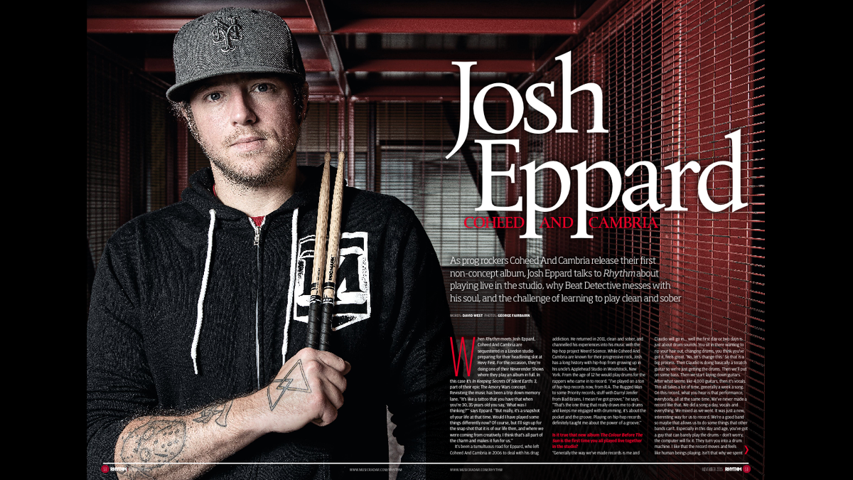 There are some sweet photos of Josh Eppard from Coheed and Cambria I shot for rhythm magazine this month. Check it! https://t.co/dhP7HvbMcG