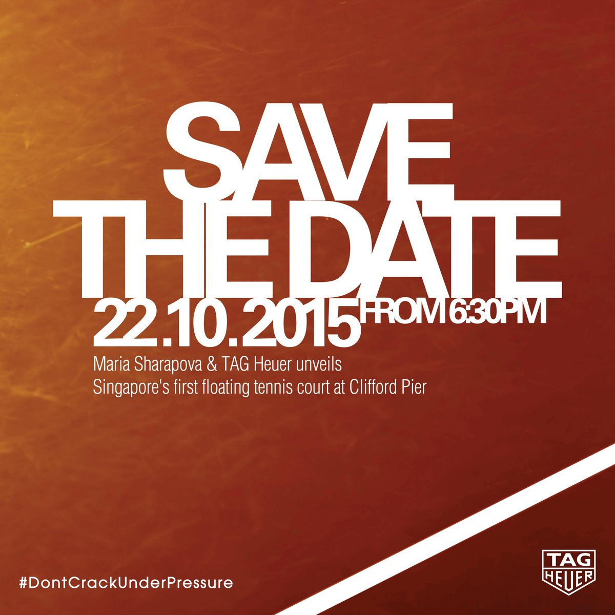 #SavetheDate for Singapore's 1st floating tennis platform by @TAGHeuer Oct. 22nd @ Clifford Pier! https://t.co/QGVzkEOHB7