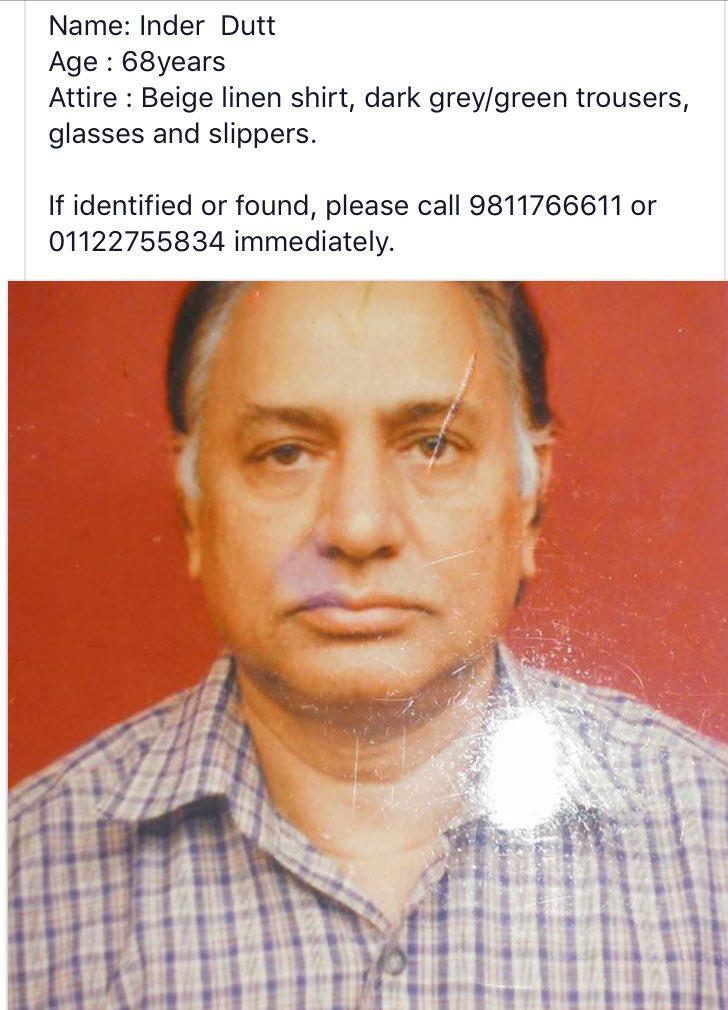 He suffers from Alzheimer's and is missing. Good people of twitter let's spread the word. https://t.co/d5gO2BuRyN