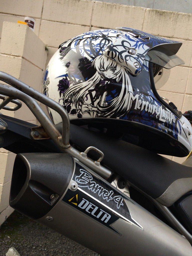 ばんざいくんのヘルメットもバイクもナイスだ。 関東で待ってるで!(*^◯^*) 湘南でも走ろう! https://t.co/T2e5I5NEZk