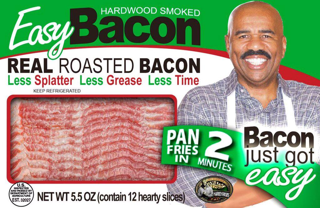 CONGRATS to @IAmSteveHarvey & Greg Calhoun for launching their own line of bacon sold at @Publix @Walmart #EasyBacon https://t.co/pFJJ5razaP