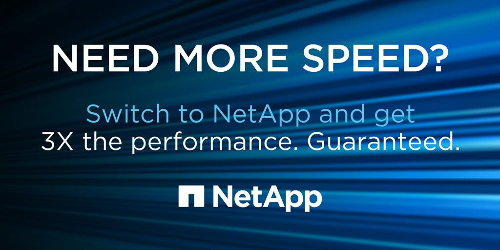 Enterprise grade AF arrays w/ a 3x performance increase. Guaranteed. #NetApp3xguarantee https://t.co/zE2vJG61U6 https://t.co/6WAXNkhdLO