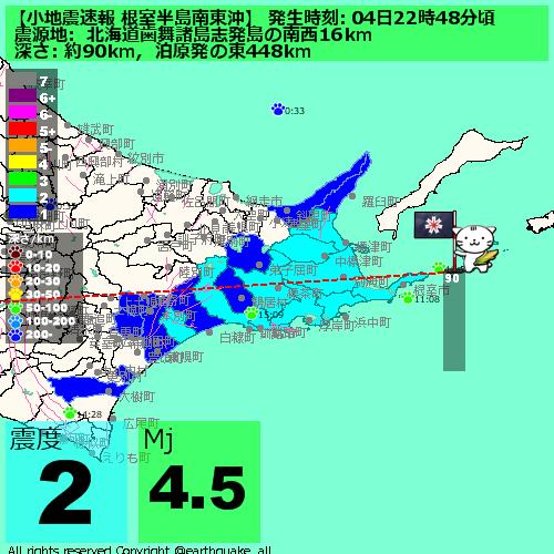 根室半島沖地震