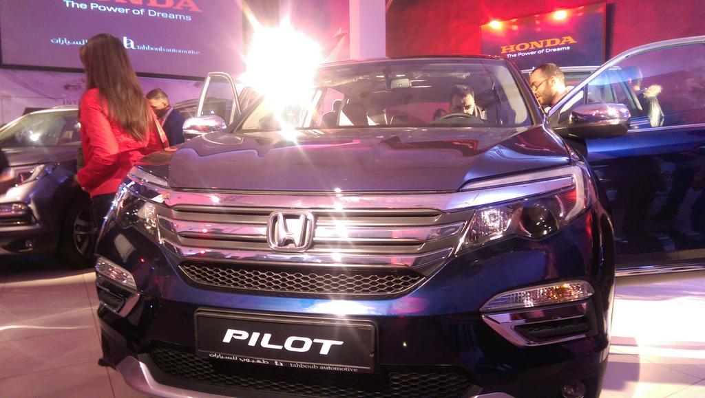 Drum roll please! The all new #HondaPilot2016 @HondaTahboub https://t.co/0XwX9u9Glw