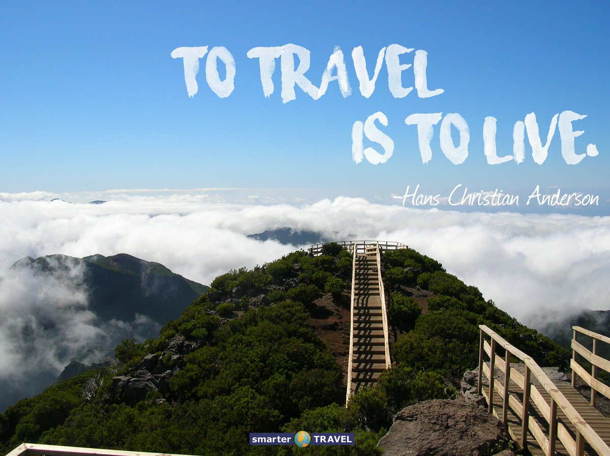 """To travel is to live."" - Hans Christian Anderson #mondaymotivation #travel #quotes https://t.co/sXT95BU10D"