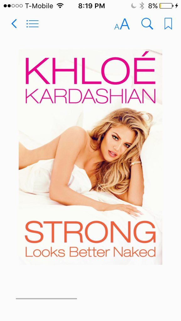 RT @KhloeKStan: Y'all I can't!!!!???????????? #StrongLooksBetterNaked I'm going to be up all night reading lol???? Congrats @khloekardashian ???????? https:/…
