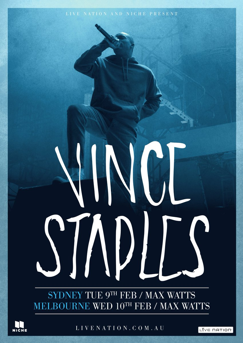 .@vincestaples sideshows announced. Don't miss one of the most exciting new voices in hip hop #Laneway2016 https://t.co/fHE87aahZl