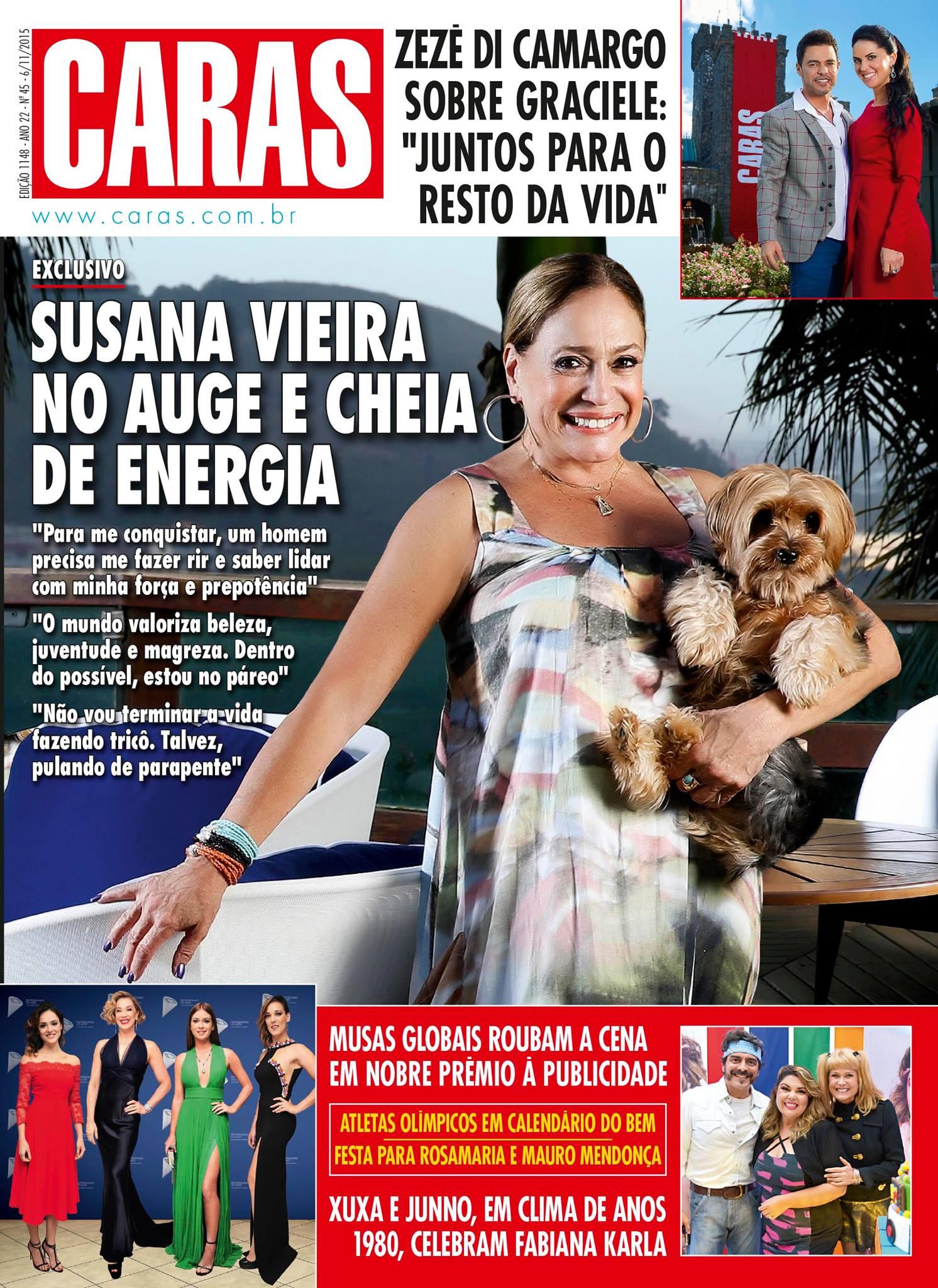 Na revista CARAS desta semana:  @eususanavieira no auge e cheia de energia; https://t.co/Btnl4ydvbO