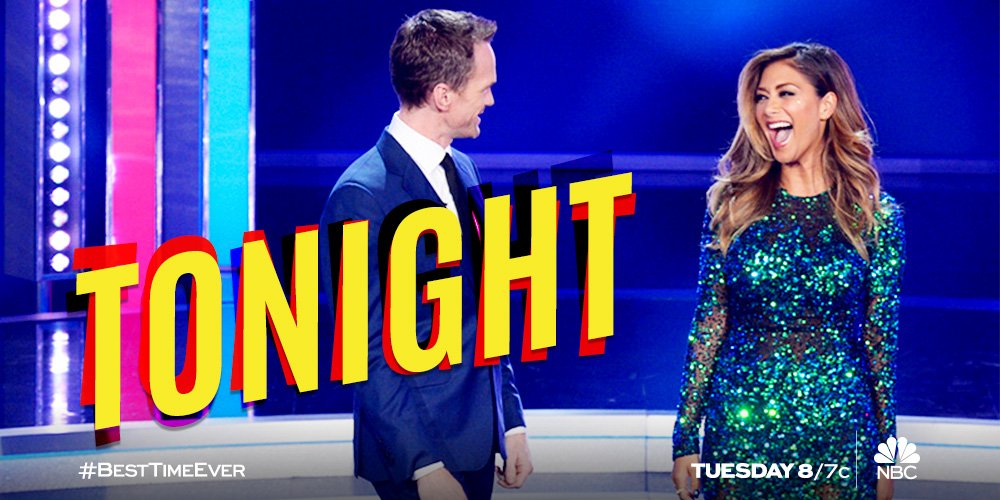 RT @BestTimeEver: There's plenty of party still to come! ????  Get ready for the SEASON FINALE of #BestTimeEver TONIGHT at 8/7c! https://t.co/…