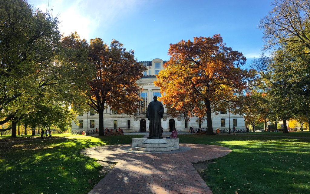 We think Fall looks good on our campus!