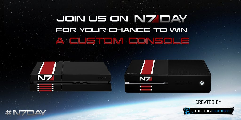 Okay, now who wants one? #N7Day https://t.co/WNJ6h9QAIG