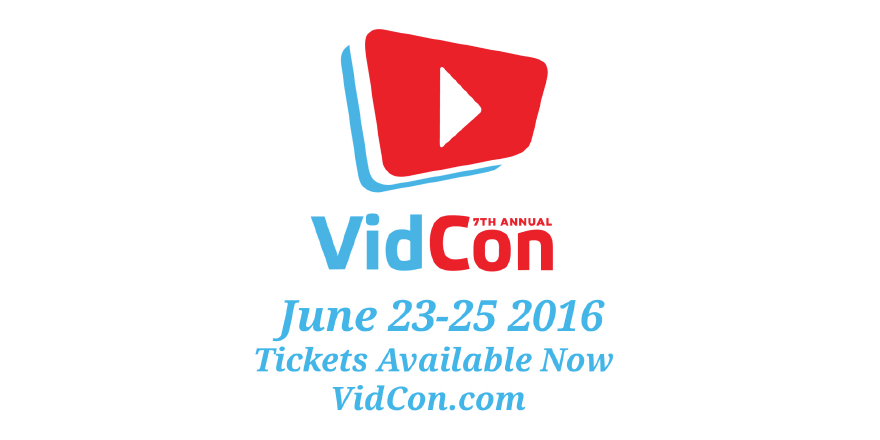 Big news, people! VidCon 2016 will be June 23-25, and tickets are on sale NOW! https://t.co/Y0hRTmXO5h