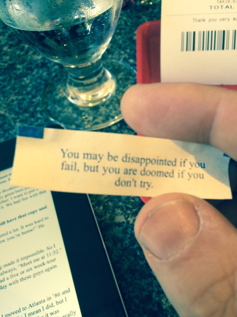 Lunchtime wisdom: a fortune cookie with really good advice. https://t.co/SP7T1h8fsQ