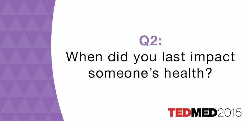 When did you last impact someone's health? Share to help prepare for #TEDMED & @RWJF event on 11/19 #cultureofhealth https://t.co/8hIBtxRAYg