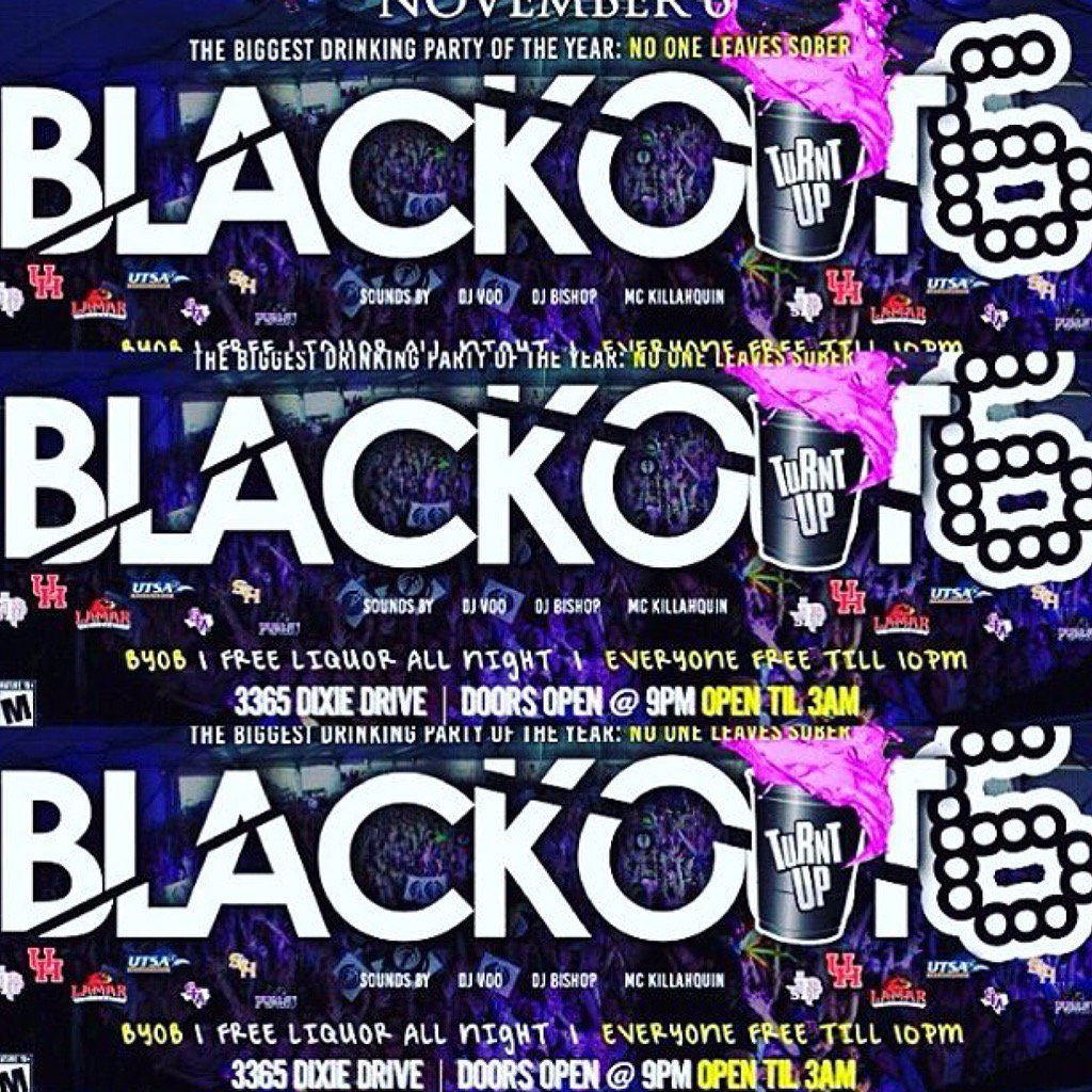 We taking the roof off Dixie warehouse this Friday for #BlackOutParty6 #PVinvadesHouston https://t.co/YlghIqzUir