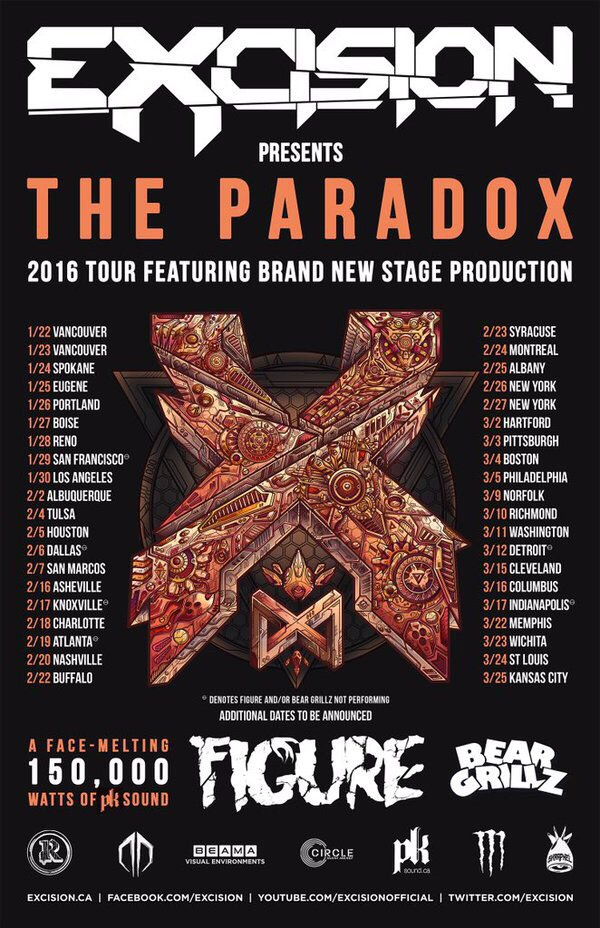 Going on tour with @Excision and @itsbeargrillz !! https://t.co/5wdP7WkGBL