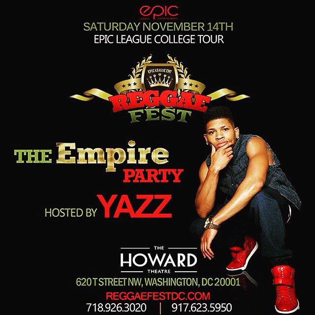 Saturday Nov 14th it's #Reggaefest Hosted by @YazzTheGreatest at HowardTheatre tickets at https://t.co/JJz8RNMWcm https://t.co/mYrSIHjzda