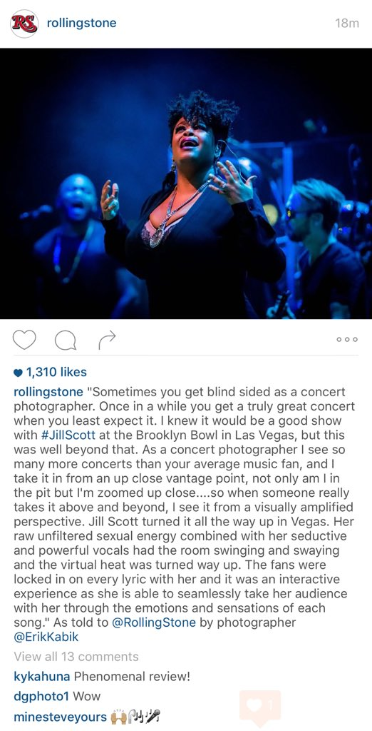 My latest write up for my pic of @missjillscott posted to @RollingStone IG today. Such an awesome show! https://t.co/3UC0alDyD7
