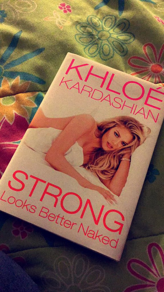 RT @LakiaSPatrick: Can not wait for the book signing of which I will probably cry at! ☺️ @khloekardashian #StrongLooksBetterNaked https://t…